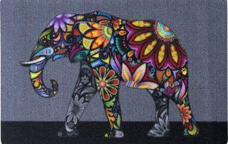 bunter Elefant Fußmatte