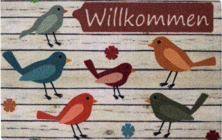 Willkommen Vögel Fußmatte